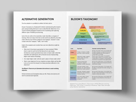 Objectives workbook